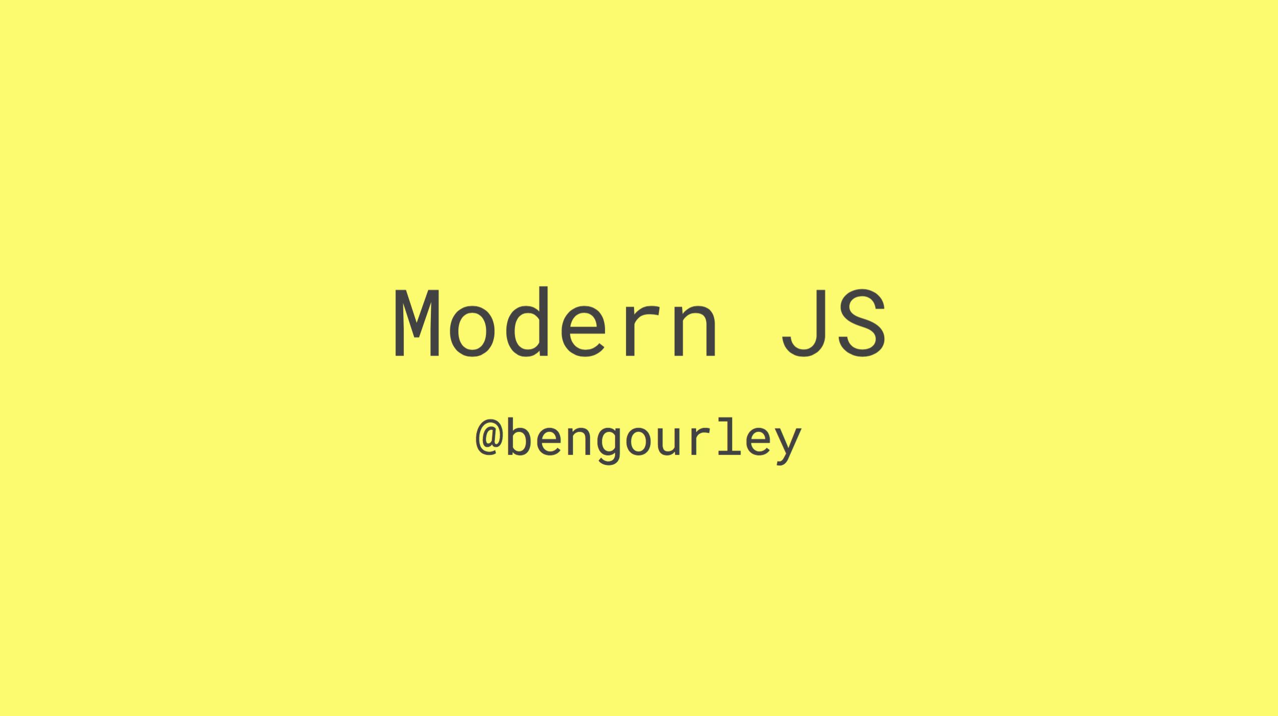 Modern JS title slide